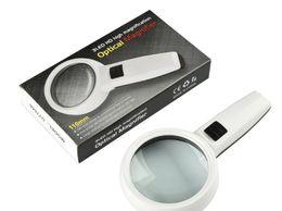 DT7666 Doppia lente in vetro con LED Light 30x HD Lente di ingrandimento palmare ad alta potenza Identificazione dell'ingresso dell'identificazione in Offerta