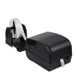 Desktop Black 300dpi Direct Thermal Transfer Barcode Label Printer USB  Serial Parallel AT Optional Without Ribbon on Sale