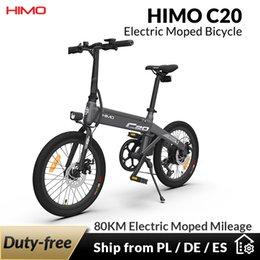EU STOCK HIMO C20 Electric Bike Folding E Bike 250W 10Ah Ultra-Dynamic Dual Mode Outdoor Urban Bicycle 80KM Mileage 20 inch Tire