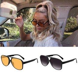 Großhandel Vengom Retro Übergroße Sonnenbrille Frauen Mode Gradient UV400 Große Sonnenbrille Vintage Brand Designer Lentes de Sol Mujer