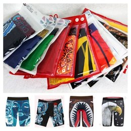 calcinha de estiramento venda por atacado-Boxers Homens Underwears Streeters Streets Fashion Skating Legging Shorts Stretch Long Boxer Briefs Quick Seco Calcinha C111909