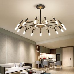 led luminaire design 2021 - LODOOO led pendant lights modern design living room decoration for bedroom kitchen hanging lamp Black Gold luminaire suspension