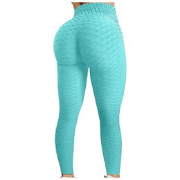 female sexy white pant 2021 - Sexy Yoga Pants Fitness Sports Leggings Jacquard Sports Leggings Female Running Trousers High Waist Yoga Tight Sports Pants YJ005hot sell