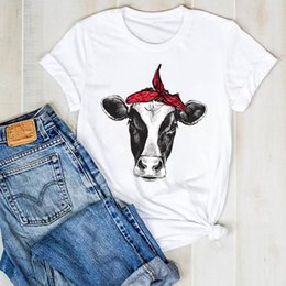 bull caps 2021 - Women Lady Heifer Cattle Bull Cute Print Ladies Fashion Summer T Tee Tshirt Womens Female Top Shirt Clothes Graphic T-sh
