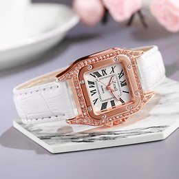 5pcs Leisure steel belt and the same hot-selling waterproof quartz watch Square Watches-1 on Sale