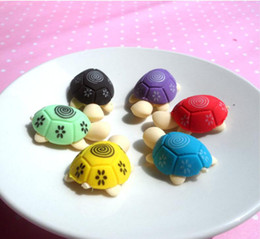 Cartoon cute colorful animal turtle shape environmental protection eraser creative prizes wholesale animal eraser beautiful and practical on Sale