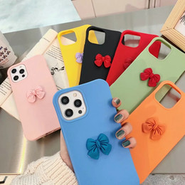 Discount iphone ladies 3D Bowknot Cute Soft TPU Case For Iphone 12 Mini 2020 XR 11 Pro Max XS MAX X 8 7 for Female Girl Lady Lovely Shockproof Mobile Phone Cover