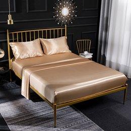High Quality Duvet Cover Silk Bed sheets Four Piece Bedding Sets 9 Color On Sale Comforter Sets 470 V2 on Sale