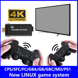 tv video game system UK - U8 Game 32GB 4K TV Video Games Stick LINUX System Retro Classic 64 Bit Games With 2.4G Wireless Controller HDTV Output for Dual Players Gift