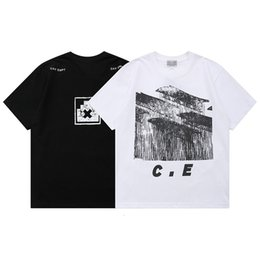 pattern men half shirts Canada - Street fashion brand cyberwind front back pattern printed lovers T-shirt loose men and women C.E. short Half sleeve Tee