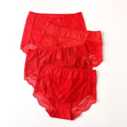 ingrosso jin di cotone-Biancheria intima Birthdays Birthday Dimensioni Jin Cotton Big Red Medium High Waist Lace Sexy