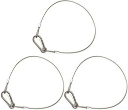 Wholesale Set of three drop-proof safety cable stainless steel safety rope suitable for party lights DJ lights stage lighting and a load of 110 pound