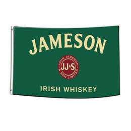 jameson whiskey 2021 - Jameson Irish Whiskey Flag Green 3x5Ft Double Stitching Decoration Banner 90x150cm Sports Festival Polyester Digital Printed Wholesale