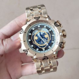 invicta wristwatch 2021 - 3+A good quality men invicta GOLD watches stainless steel strap Mens Watches Quartz Wristwatches relogies for men reloje