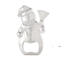 Wholesale Snowman Bottle Opener Beer Openers Christmas Gifts Winter Theme Event Anniversary Wedding Giveaways RRF11350