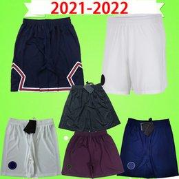 venda por atacado 2020 2021 2022 psg calções de futebol 20 21 22 NEYMAR JR terceiro branco casa azul fora laranja calças de futebol paris maillots de pé camisa de futebol MBAPPE CAVANI