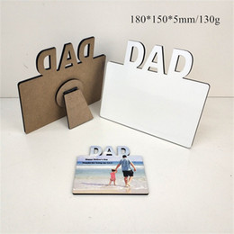 Wholesale Wholesale! MDF Sublimation Blank Photo Frame Wooden Lettering Photo Board Sublimating White Family Home Album Frame Heat Transfer Item A12