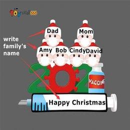 Опт 2021 DIY Рождественские украшения Орнаменты Орнаторные Подарки Санта-Клауса Домашняя вечеринка Подарки для друзей семьи