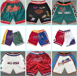 звездные имена оптовых-Мужчины просто Don Shorts Edition Ретро сетка All Star Shaded Just Don Pocket Basketball Shorts Checks Teams Times ID года