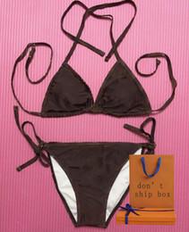 Großhandel Frauen Klassische Badebekleidung Brief Muster Drucken Sexy Sommer Zwei Stücke Badeanzug Heißer Verkauf Damenmode Bikinis 3 Arten Badeanzug