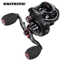 Ingrosso Kastking Speed Demone Elite BaitCasting Bobina da pesca 10.5: 1 Rapporto di ingranaggio 10 + 1 cuscinetti a sfera 8.1kg Max Trascina con anelli di fibra di carbonio