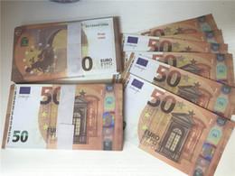 venda por atacado 2021 Cross-fronteira Filme de Hot-selling Money Euro 50 Papel Copy CockNote Prop Money Euro 100pcs / Pack 033