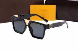 venda por atacado 2021 5A + de Alta Qualidade Mens Mens Sunglasses Designer Womens Womens Sunglasses Marca Designer Sun Óculos UV400 Proteção Óculos com Caixas
