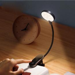 venda por atacado LED Night Light USB Recarregável Mini Clip-on Lâmpada Luz Luz Flexível Luz de Leitura de Luz para Livro de Quartos de Travel