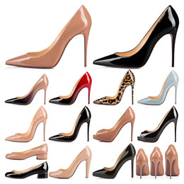 Wholesale High Heels So Kate Styles Red Bottoms womens Stiletto Heels 8 10 12CM Genuine Leather Point Toe Pumps loafers Rubber size 35-43