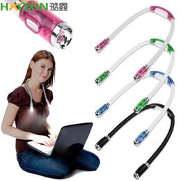 Haoxin conveniente flexível Handsfree LED pescoço abraço lâmpada de lâmpada de lâmpada de lâmpada de lâmpada levou luz flash luz acampamento luz em Promoção