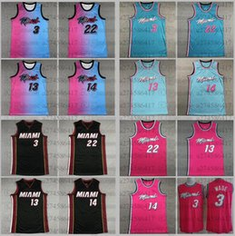 Wholesale picture s resale online - The real picture Men basketball jersey Miami Heat Dwayne Wade Jimmy Butler Adebayo Herro City Basketball Jersey