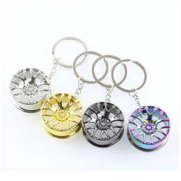 cool key rings 2021 - Wheel Rim Model Keychain High Quality Car Key Chain Llaveros Hombre Creative Hub Design Metal Key Ring Cool Chic Gifts qylXEW