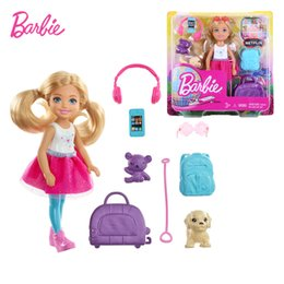 Discount cute barbie doll girl 2019 New Genuine Barbie Doll Little Kelly Dog Trip 1 12 Cute Fashion Accessories Kids Mini Toys for Girls FWV20 L0308