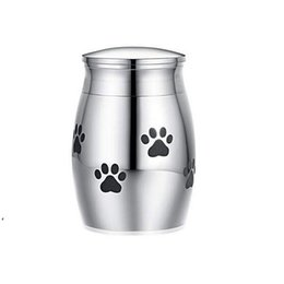 Wholesale Wholesale Cat Carriers Crates Houses Small Cremation Urn for Pet Ashes Mini Keepsake Stainless Steel Memorial Urns Dogs Cats Holder DWD8991