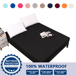 Wholesale Bedding Fitted Sheet Waterproof Machine Washable 100% Polyester Classic Solid Color US Standard King Queen Full Twin VT2417