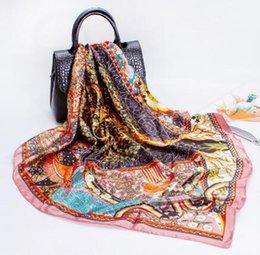 Silk Scarf woman imitation silk print scarf, tree of life 90x90cm large scarf gifts shawl(minimum quantity:2 pieces)