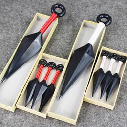 4Styles 2 Sizes NARUTO Hatake Kakashi Deidara Kunai Shuriken Weapons Pendant Cosplay PVC Toys New In Box 13cm 26cm C0220 on Sale