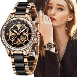 Designer luxury brand watches SUNKTA Women es Dress Fashion Gifts Clocks Quartz Ceramics Bracelet Wrist For Montre Femme