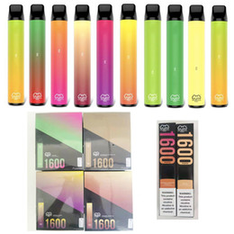 Puff XXL Disaposable Cigarros Vape Pen Preço 1600 Puffs 6.5ml 5% Capacidade Livre 950mAh Bateria 44 Cor Entregada 3-7days em Promoção