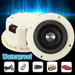 2pcs 30W Waterproof Ceiling Speakers Waterproofs Marine Stereo Audio Speaker For Boat ATV Indoor Outdoor music player on Sale