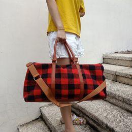 Camo Travel Bag GA Warehouse Large Capacity Leopard Duffle Custom Design Handbag Overnight Weekend Tote Bags With Hot-Pink Strap DOM1065