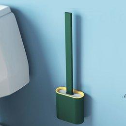 Ingrosso Spazzola per la spazzola per spazzola newportabile Pennelli per la pulizia creativa Impostare il supporto per la spazzola igienica Set Durevole Bagno Pulisci lo strumento EWE6648