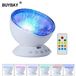 projector lights for kids Australia - LED Night Light Ocean Wave Projector Starry Sky Aurora Luminaria Built-in Music Player USB Novelty Lamp for Baby Children Kid