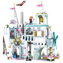 Wholesale ice castles for sale - Group buy Princess Queen Figures Arendele Building Blocks Snow City Ice Castle Friends Christmas Gifts Bricks Toys For Girls X0127