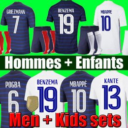 France soccer jersey Euro 2020 2021 football shirt Camiseta de fútbol de Francia 100 aniversario 100 chandal del equipo de la Copa del mundo de MBAPPE kit de los hombres + niños en venta