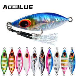 lead spoons fishing lures UK - ALLBLUE ATLAS Metal Jig Spoon Lure 14G 20G 30G 40G 60G Artificial Bait Shore Slow Jigging Super Hard Lead Bass Fishing Tackle C0222