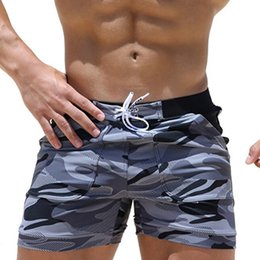 floral board shorts Canada - Men's Beach Pants Camo Quick-drying Breathable Swimwear quick board mens surf board shorts swimsuit for beach men's shorts surf Q0220