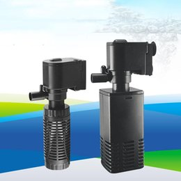 Wholesale Air Pumps & Accessories 4W 6W Aquarium Water Pump Filter Three-In-One Cycle Built-In Silent Cylinder Aeration Fish Tank Farming Equipment