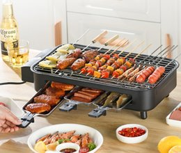 Wholesale Portable household electric barbecue grillindoor bbq grill electric baking pan skewer grilled fish stove table BBQ 017-2
