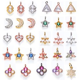 Wholesale panda charms for sale - Group buy Diy Accessories Panda Charm Rose Gold Star Moon Flower Connector Beads Fit Original Charm Bracelet Necklace Jewelry DIY Making
